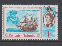 Pitcairn Islands  Scott 68 1967 Discovery 1d ,used - Stamps