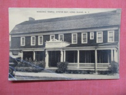 Masonic Temple  Oyster Bay  Bottom Left Corner Crease  - New York > Long Island    Ref 3626 - Long Island