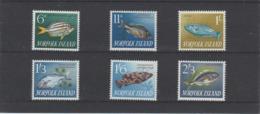 1962-1964 Norfolk Island Fish Full Set Of 6 MNH - Norfolk Island
