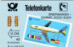 GERMANY-P : P01A_88 (7) P01A 12DM BRIEFMARKEN SAMMEL.. STAMPS AIRPLANE MINT (Printed:30000) - Allemagne