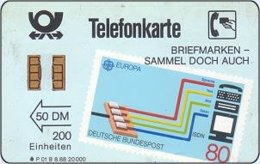 GERMANY-P : P01B_88 (11) P01B 50DM BRIEFMARKEN SAMMEL.. STAMPS (11 Digit Ct MINT (Printed:20000) - Allemagne