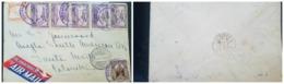 O) 1933 EL SALVADOR. SCADTA, MAIL PLANE OVER EL SALVADOR SC C13 25c, ATLACATL SC 497 3c, MAP OF CENTRO AMERICA SC 500 10 - El Salvador