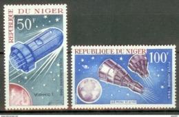 Niger 1966 Mi#137-138 MNH Cv Eur 3 Space - Africa