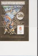 OLYMPICS - GUINEE REP - 1992 - ALBERTVILLE  OLYMPICS  1500FR ICE HOCKEY IMPERF  MNH - Invierno 1992: Albertville