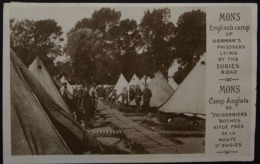 MONS / ENGLISH CAMP OF GERMAN' S PRISONERS LYING BY THE EUGIES ROAD / CAMP ANGLAIS DE PRISONNIERS - War 1914-18
