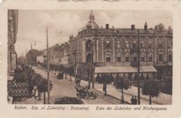 AK - RADOM - Strassenansicht Ecke Lubelska U. Kirchengasse 1917 - Feldpost - Polen