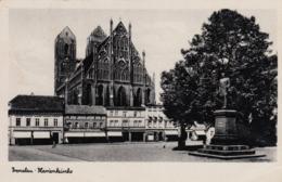 AK - Polen - Prenzlau - Marienkirche - Schuhhaus Ehmann - Reformhaus 1944 Feldpost - Polen
