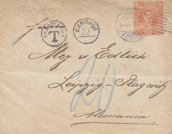 Chile: 1913: Letter With Taxe To Leipzig - Chili
