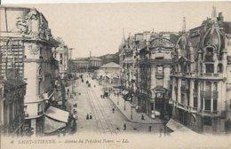 Carte Postale Ancienne De Saint Etienne L'avenue Du President Faure - Saint Etienne
