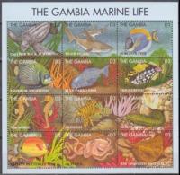 1995Gambia2066-77KLSea Fauna14,00 € - Meereswelt