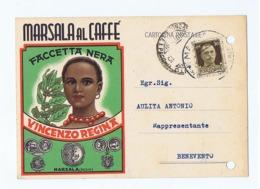 MARSALA - VINCENZO REGINA - MARSALA AL CAFFE - FACCETTA NERA - 1941 (3701) - Avellino