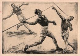 ! Ansichtskarte Sport Speerwerfen, Spear - Olympische Spiele