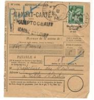 22338 - Mandat Carte De CHAMPTOCEAUX - 1921-1960: Modern Period