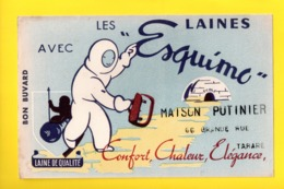 Buvard Publicitaire Laine Esquimo, Tampon Magasin Tarare 69 - Buvards, Protège-cahiers Illustrés