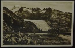 Furka Und Grimselstrasse Mit Rhonegletscher Und Galenstock Postauto - UR Uri