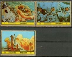 Ajman Manama 1972 Mi#1070-1072MNH Cv 3eur Space - Asia
