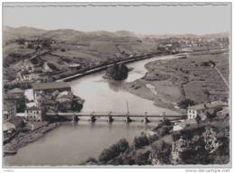 Carte Postale 64. Behobie  L'Ile Des Faisants La Bidassoa  Béhobia Et Le Pont Trés Beau Plan - France