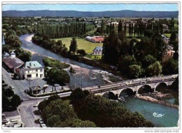 Carte Postale 64. Nay  La Poste  Le Pont Gave De Pau  Vue D'avion Trés Beau Plan - France