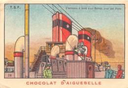 CHROMO  CHOCOLAT  AIGUEBELLE - DONZERE  ( DROME )   TSF - 24 - Aiguebelle