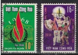 VIETNAM   SUD               N°     YVERT    339/40   OBLITERE              ( Ob  4/ J  ) - Vietnam
