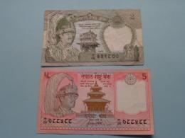 2 & 5 Rupees ( Voir Photo Pour Détail Svp / For Grade, Please See Photo ) ! - Nepal