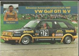 Autocollant - EDY Kamm - Schweizer Automobilmeisterschaft 1989 - VW Golf GTI 16 V - Autocollants