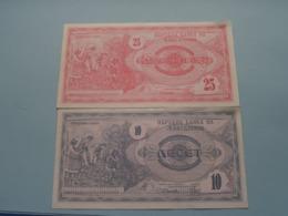 10 Note ( 8652679 ) & 25 Note ( 4290734 ) > 1992 ( Voir Photo Pour Détail Svp / For Grade, Please See Photo ) ! - Macedonië