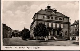 ! Alte Ansichtskarte Glashütte In Sachsen, Deutsche Uhrmacherschule, Horlogie - Glashütte