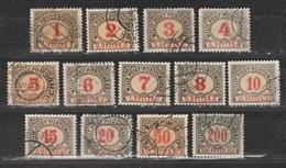 Bosnie-Herzegovine  1904  Taxe N°1 à 13  Oblitéré. Série Compléte - Bosnien-Herzegowina