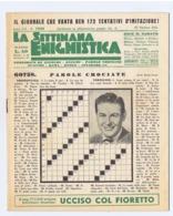 LA SETTIMANA ENIGMISTICA - NUOVA - 27 OTTOBRE 1951 - Giochi