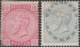 Belgique 1883 COB / Y&T 38 Et 39 Neufs Sans Gomme. 10 Et 20 C Léopold II, - 1883 Leopold II