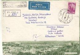 Russie - Lettonie - Lettre De 1970 - Oblit Vilnius - - 1923-1991 URSS