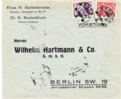 Lituanie - Lettre De 1926 ° - Oblit Kaunas - Exp Vers Berlin - Lituanie
