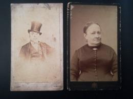 Photo-carte De Visite / CDV / Femme / Homme / Woman/ Man / Photo Aug. Despret /  Nivelles  Brabant Wallon Belgique - Anciennes (Av. 1900)
