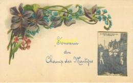 49 Avrillé, Mini Carte Souvenir Du Champ Des Martyrs Avec Photo Collée, Thème Guerres De Vendée - Autres Communes