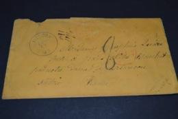Lettre 1871 Medora USA Pour La Savoie Cachet Rouge Paquebot + Autres Cachets - Marcophilie (Lettres)