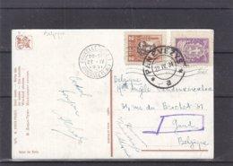 Lituanie - Carte Postale De 1931 - Oblit Panevezys - Exp Vers Gand - Cachet De Bruxelles - Lituanie