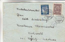 Lituanie - Lettre De 1937 - Oblit Nemerzate - Exp Vers Eichwald - Lituanie