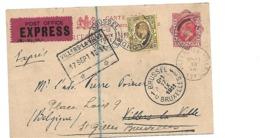 GBE044 / Gr. Britannien - Eduard VII Per Express Nach Villers La Ville Ex London 16.9.11 Und Weitergeleitet 17.9.11. - Briefe U. Dokumente