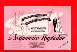 Buvard Publicitaire La Sequanaise Nuptialité - Henri ORCIER TARARE 69 - Bank & Insurance