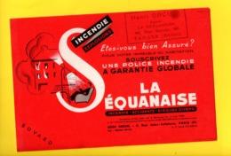 Buvard Publicitaire La Sequanaise Incendie Accidents Risques Divers - TARARE 69 - Bank & Insurance