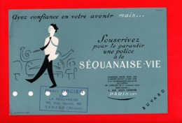 Buvard Publicitaire La Sequanaise VIE - TARARE 69 - Bank & Insurance