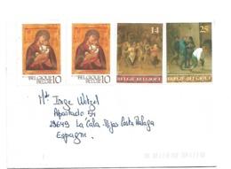 B406 / BELGIEN - Gemälde  Auf Brief Von 2019 (4 Marken) - Briefe U. Dokumente