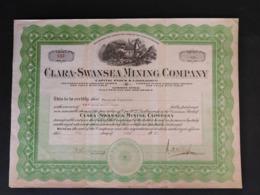 CANADA / CLARA - SWANSEA MINING COMPANY 1927 - Mines