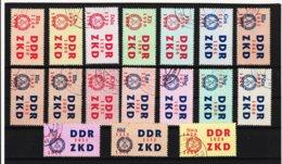 YZO910 DDR 1964 LAUFKONTROLLZETTEL ZKD Michl 16/30 Gestempelt  ZÄHNUNG Siehe ABBILDUNG - Dienstpost