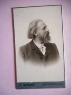 PHOTO CDV HOMME ELEGANT BARBE   MODE  Cabinet GODARD A CONTREXEVILLE VOSGES - Anciennes (Av. 1900)
