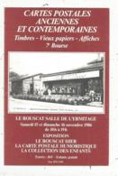 Cp, Bourses & Salons De Collections, 7 E Bourse Cartes Postales,LE BOUSCAT ,1986 ,Gironde - Bourses & Salons De Collections