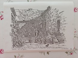Chariez Cour De Vigneron Carte Lettre Papier Haute Saône Franche Comté - Frankreich