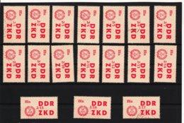 YZO912 DDR 1964 LAUFKONTROLLZETTEL ZKD Michl 31 I - XVII Gestempelt  ZÄHNUNG Siehe ABBILDUNG - Dienstpost