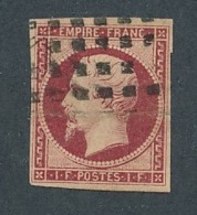 DB-97: FRANCE: Lot Avec N°18 Obl Gros Points  (pli Important Et Mini Fente) - 1853-1860 Napoléon III